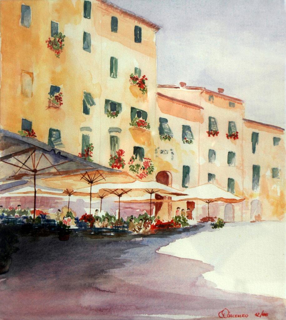 2009 - Caffè a mezzogiorno - Omaggio a B Mellish - 23x26