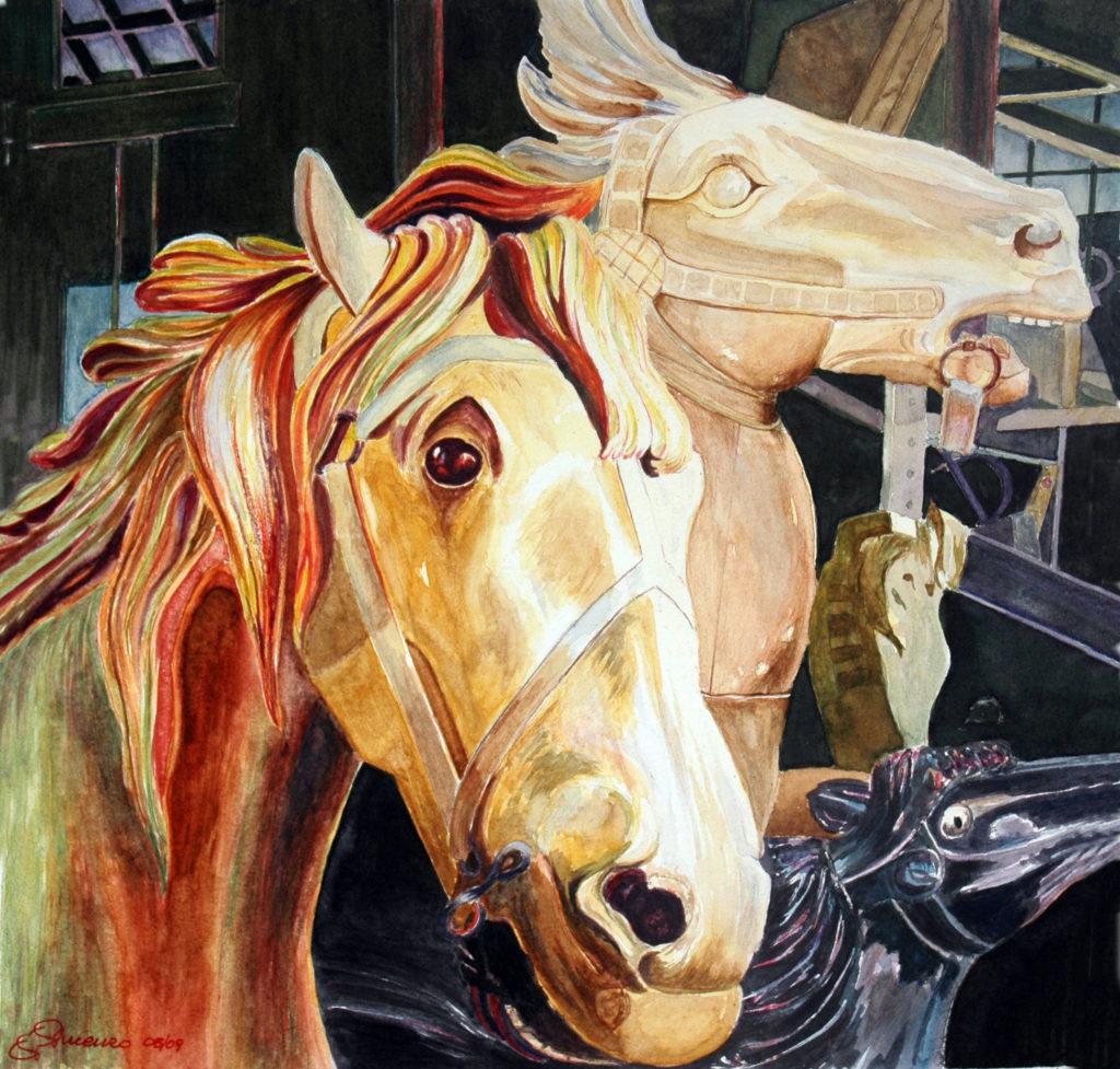 2009 - Cavalli da giostra - Omaggio a Feerbert - 25x25 -