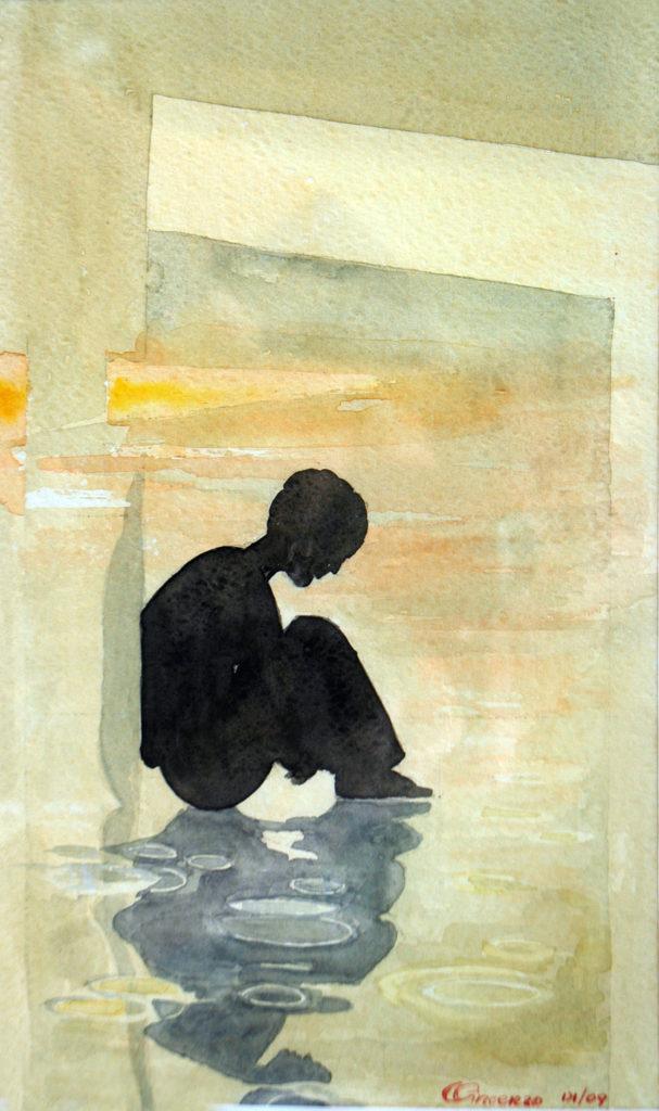 2009 - Meditazione - 15 x 25 -