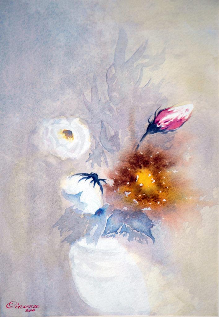 2010 - Composizione n. 5 - Omaggio a E. Toniato - 18x26 -
