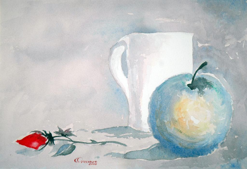 2010 - Composizione n. 8 - Omaggio a E. Toniato - 18x26 -