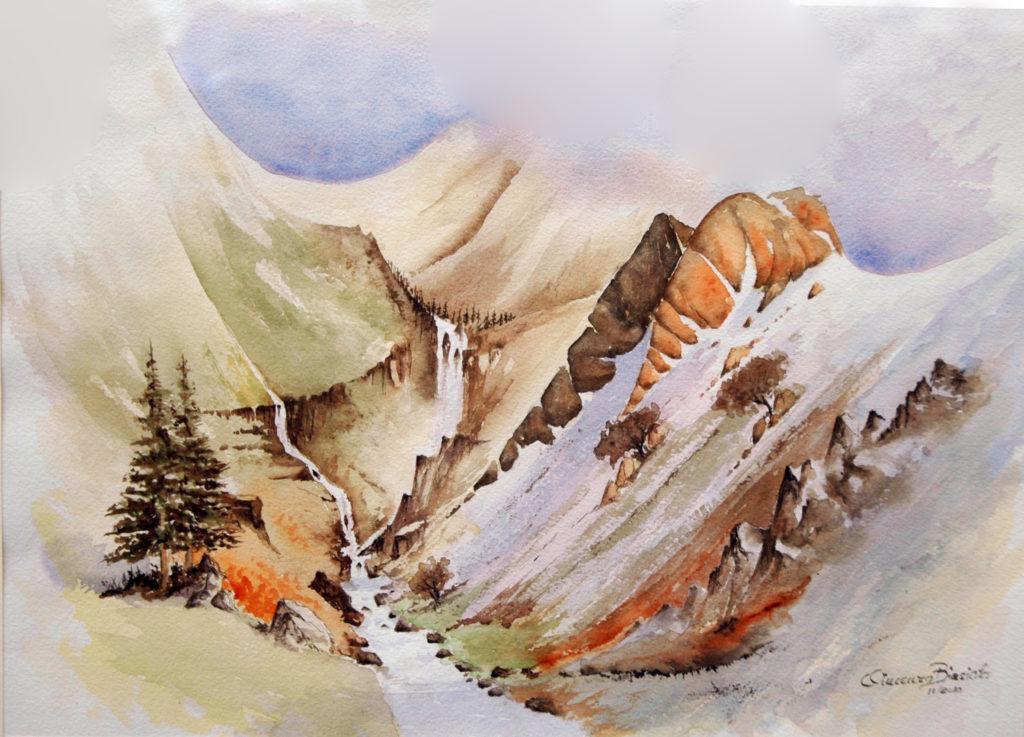 2010 - Vallata - Omaggio D. Bellamy - 37x 26,5 -