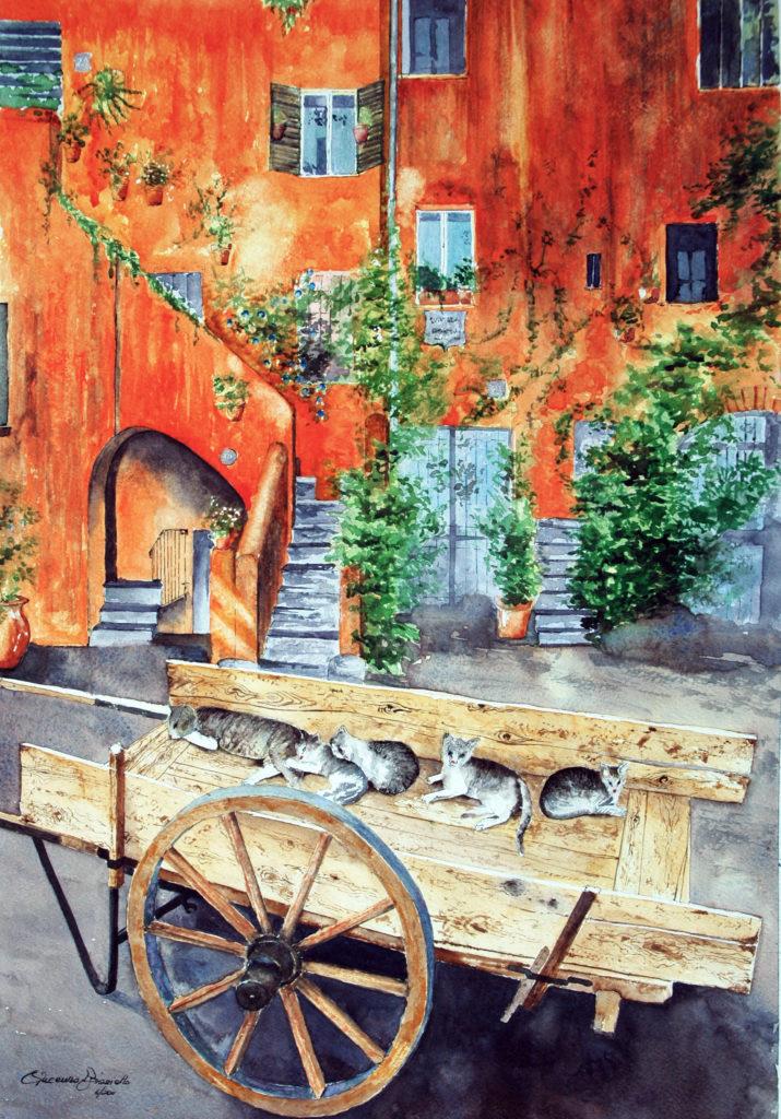 2011 - Casa Medievale - 55 x 38 -