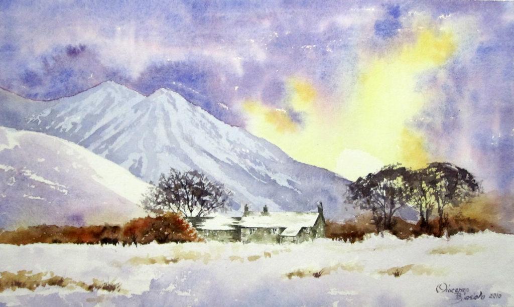 2011 - Paesaggio invernale n. 4 - Omaggio a D. Bellamy - 33x20 -