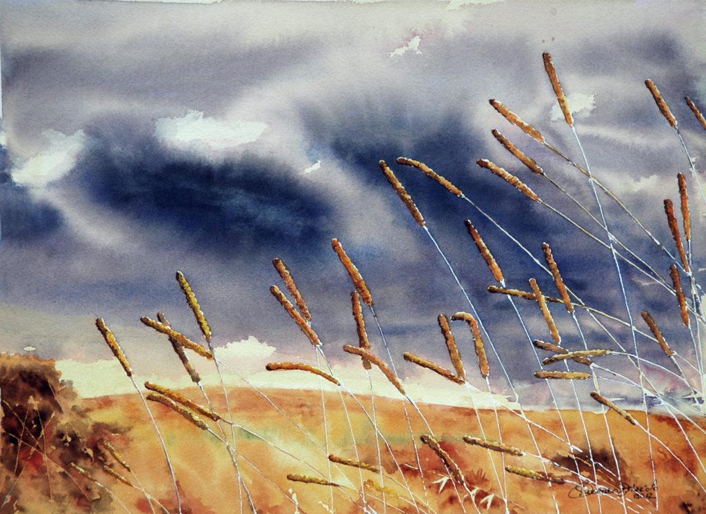 2012 - Canne al vento - 37 x 27 - Arches 300 gr.