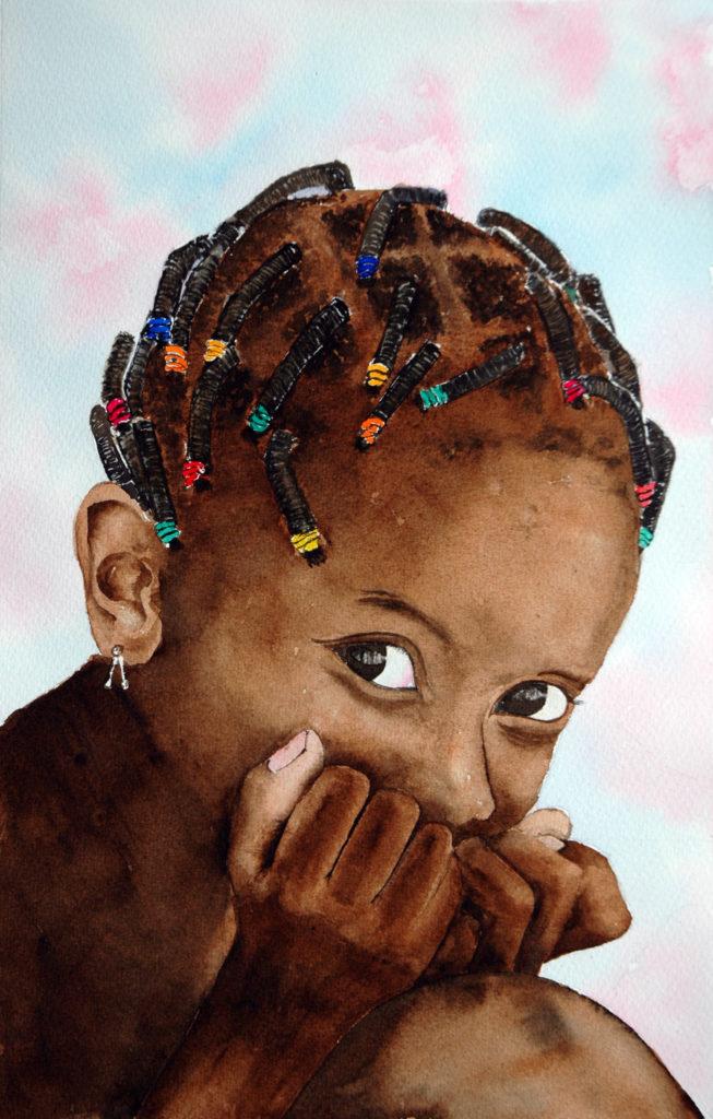 2012 - Giovane maliana - 22 x 34 - Montval -