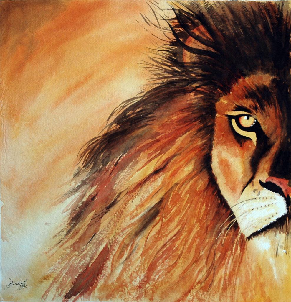 2012 - Lion - 36 x 37 - Kadi 300 gr