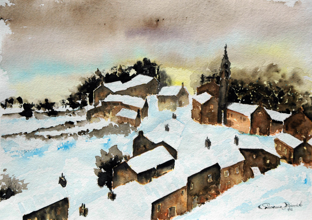 2012 - Paesaggio invernale 2 - 34 x 24 - Sicar 300 gr -