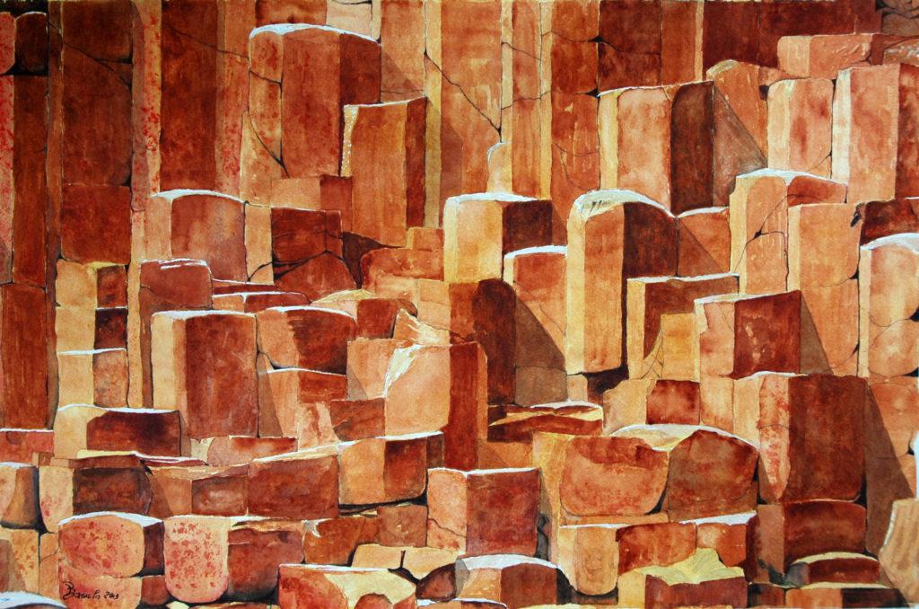 2013 - Basalti - 56,5 x 37 - Fabriano 600 gr