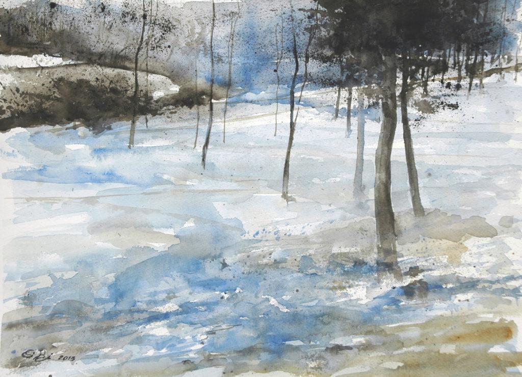 2013 - Inverno - Omaggio a Swolf n. 1 - 36 x 26 - Fabriano 300 gr
