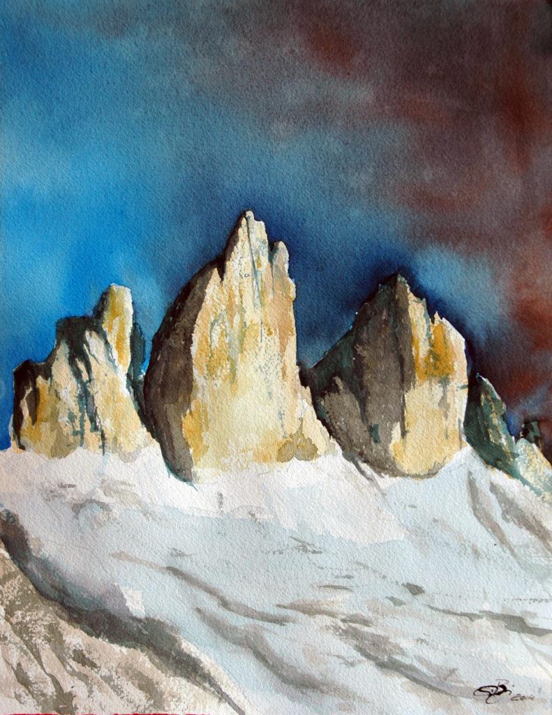 2014 - Alpi di Sesto - 27 x 38 - Arches 300 gr