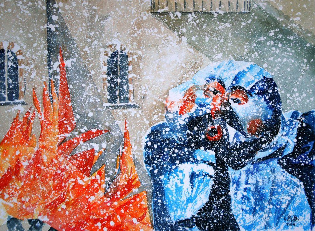 2014 - Carnevale a Mantova - 37 x 27 - Fabriano White 300 gr