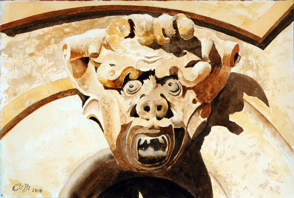 2015 - Grottesco n. 1 - 28 x 19 - Fabriano 300 gr