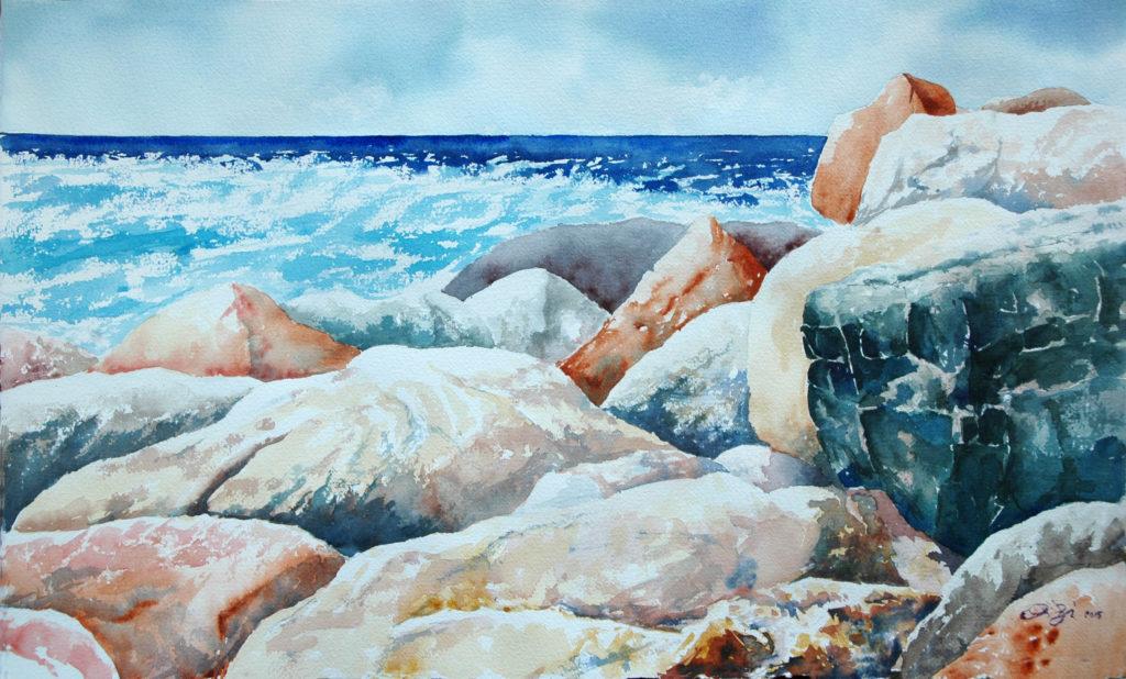 2015 - Rocce n. 4 - 57 x 34 - Arches 300 gr