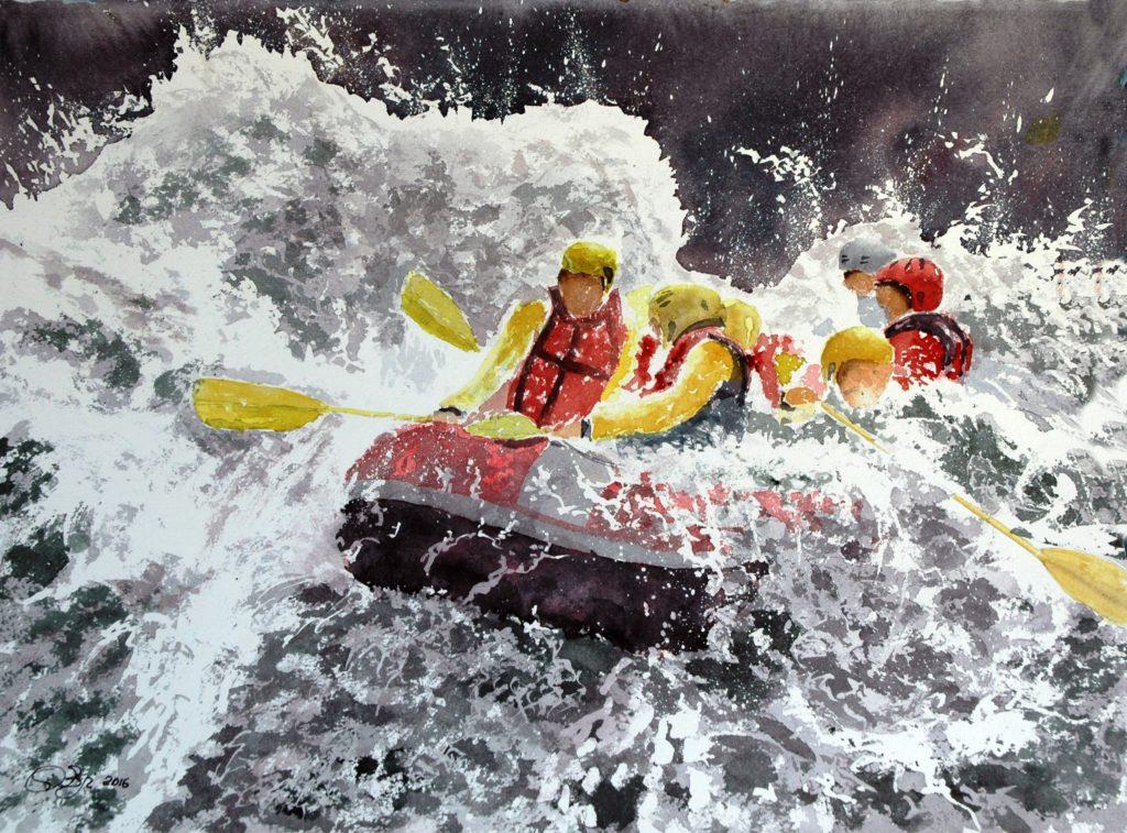 2016 - Rafting n. 1 - 34 x 28 - Arches 300 gr