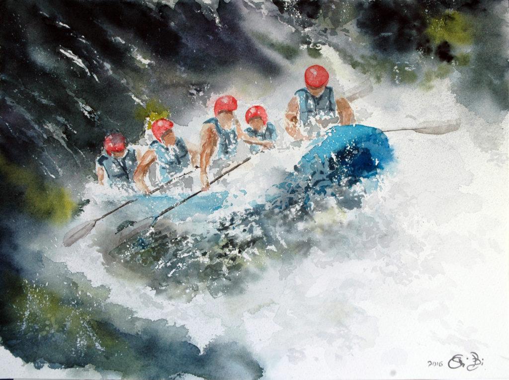 2016 - Rafting n. 3 - 38 x 28 - Saunders Waterford 300 gr