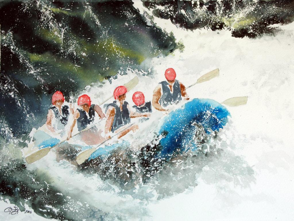 2016 - Rafting n. 4 - 38 x 28 - Saunders Waterford 300 gr