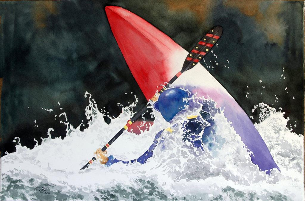2016 - Rafting n. 5 - 56,5 x 38 - Saunders Waterford 300 gr
