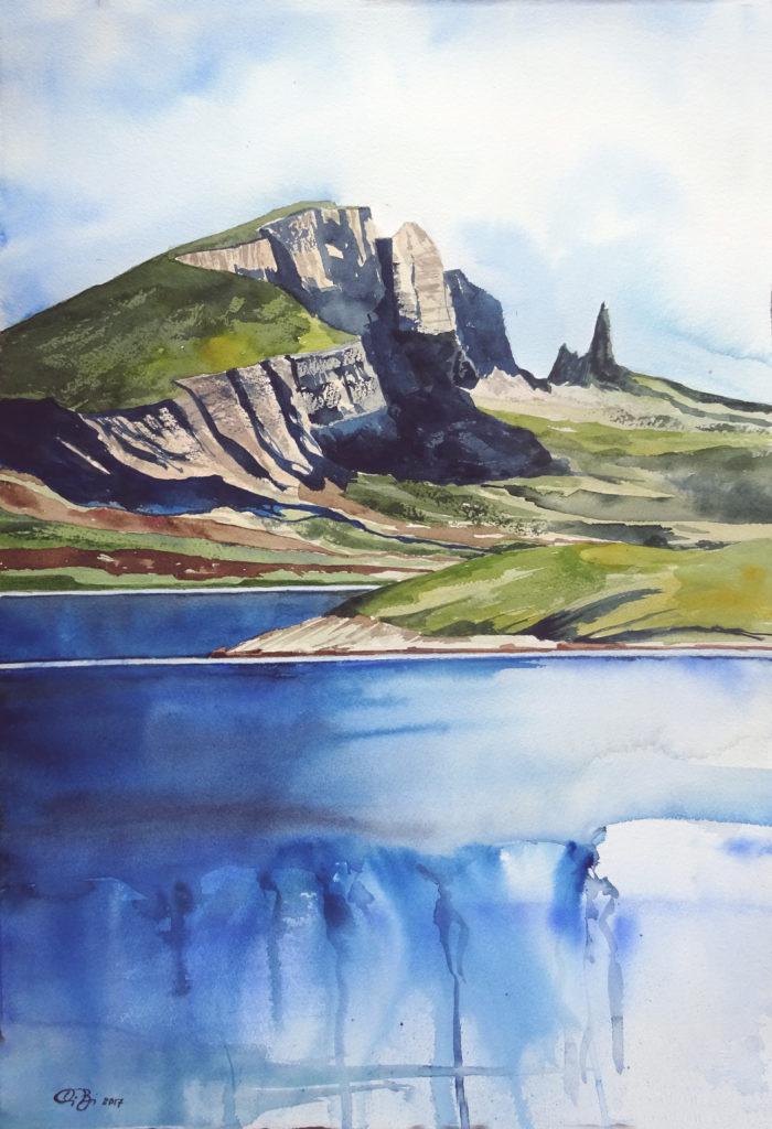 2017 - Misto montagna-mare - 56 x 38 - Arches 300 gr
