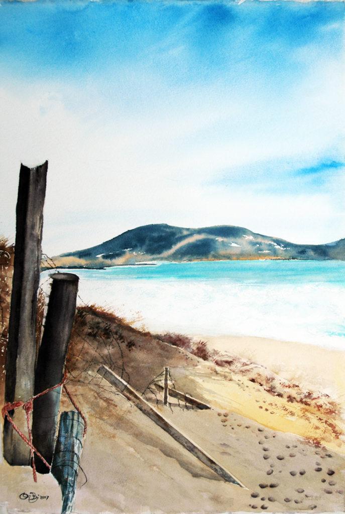2017 - Spiaggia - 38 x 57 - Arches 300 gr