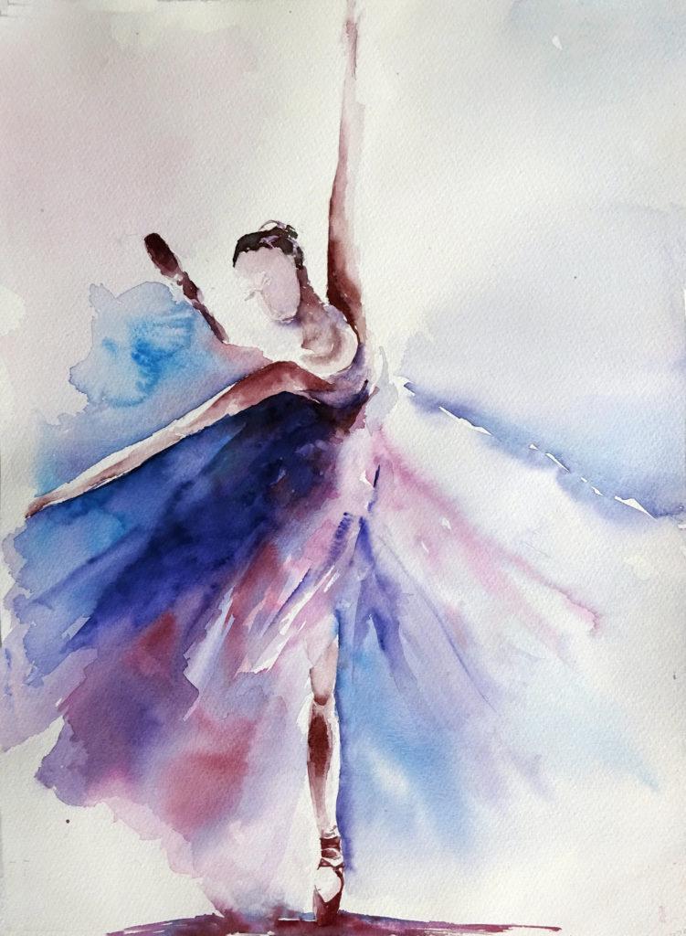 VENDUTO 2016 - Ballerina n. 3 - 28 x 38 - Fabriano300 gr
