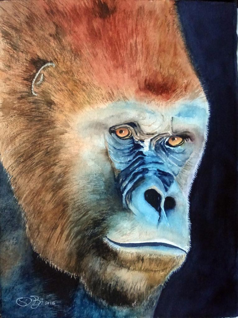 VENDUTO 2018 - Gorillone n. 3 - 28 x 38 - Winsor 300 gr
