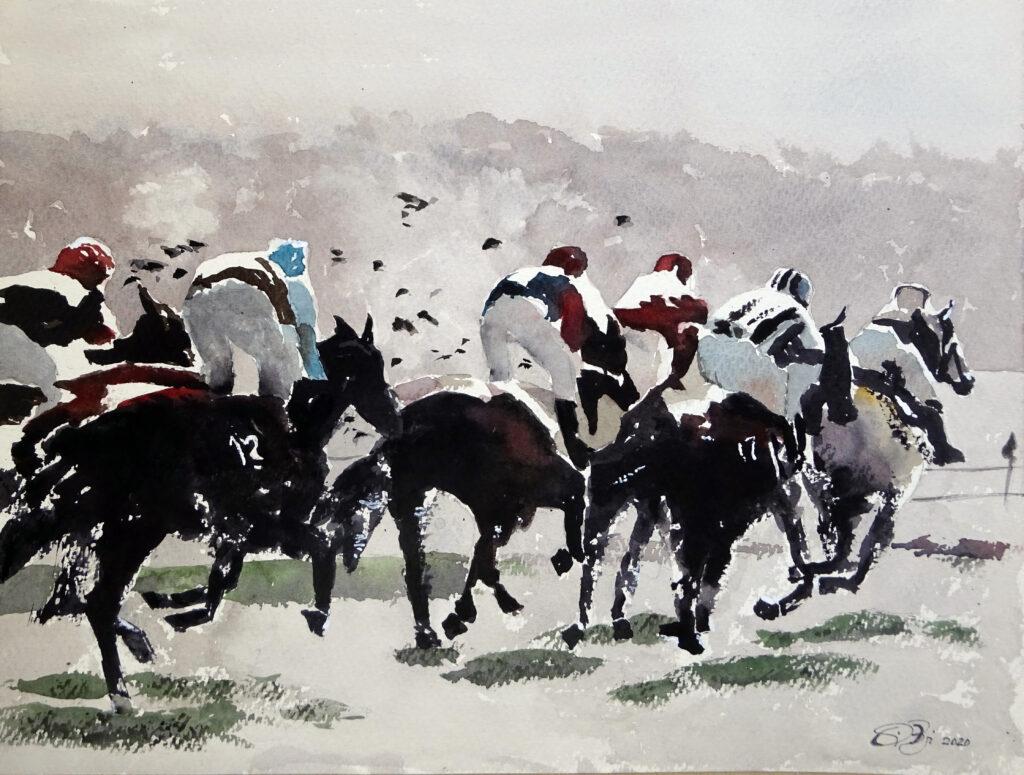 2020 -I cavalli di Yardley n. 3 - 41 x 31 - Saunders 300 gr