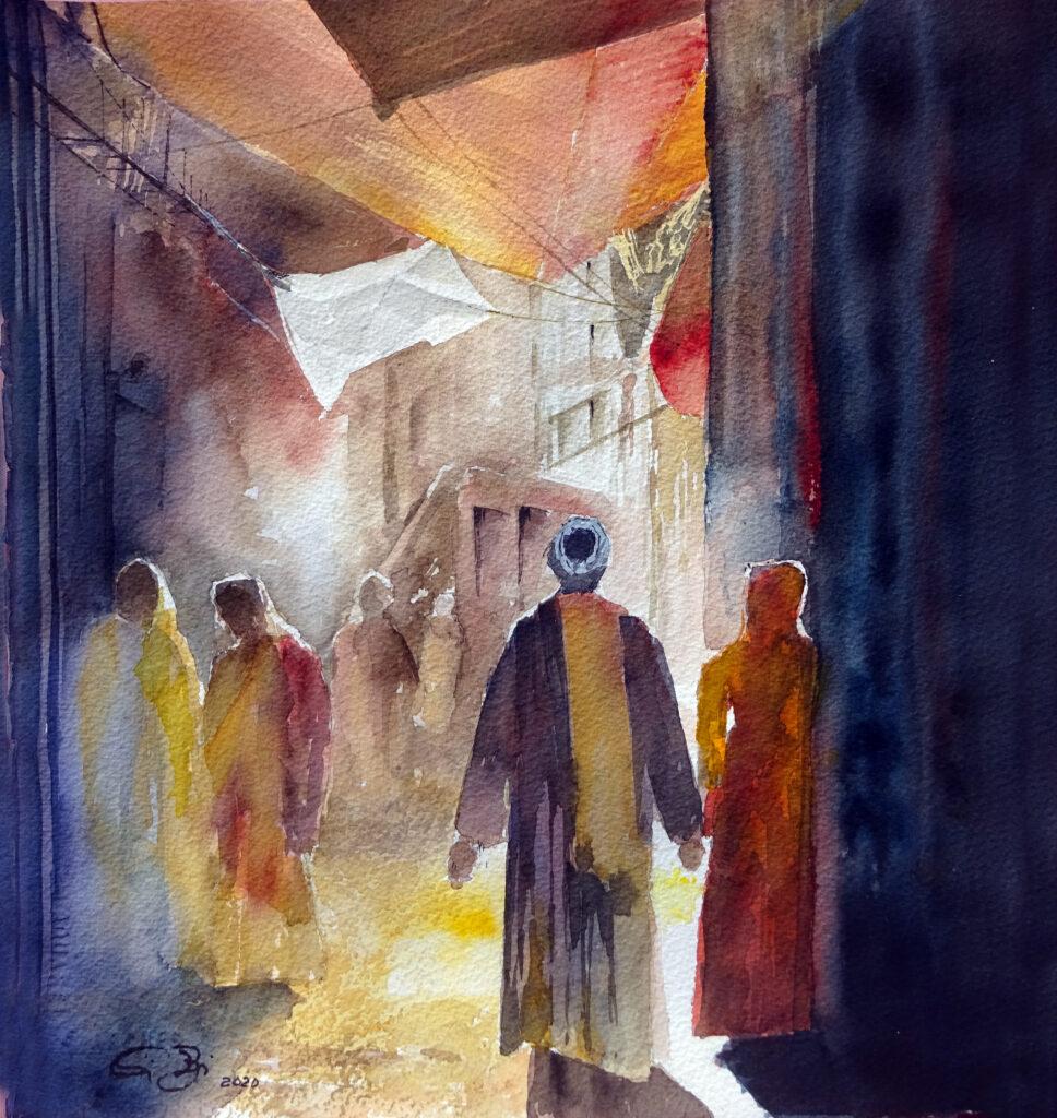 2020 - Jaipur n. 1 - 28 x 31 - Arches 300 gr