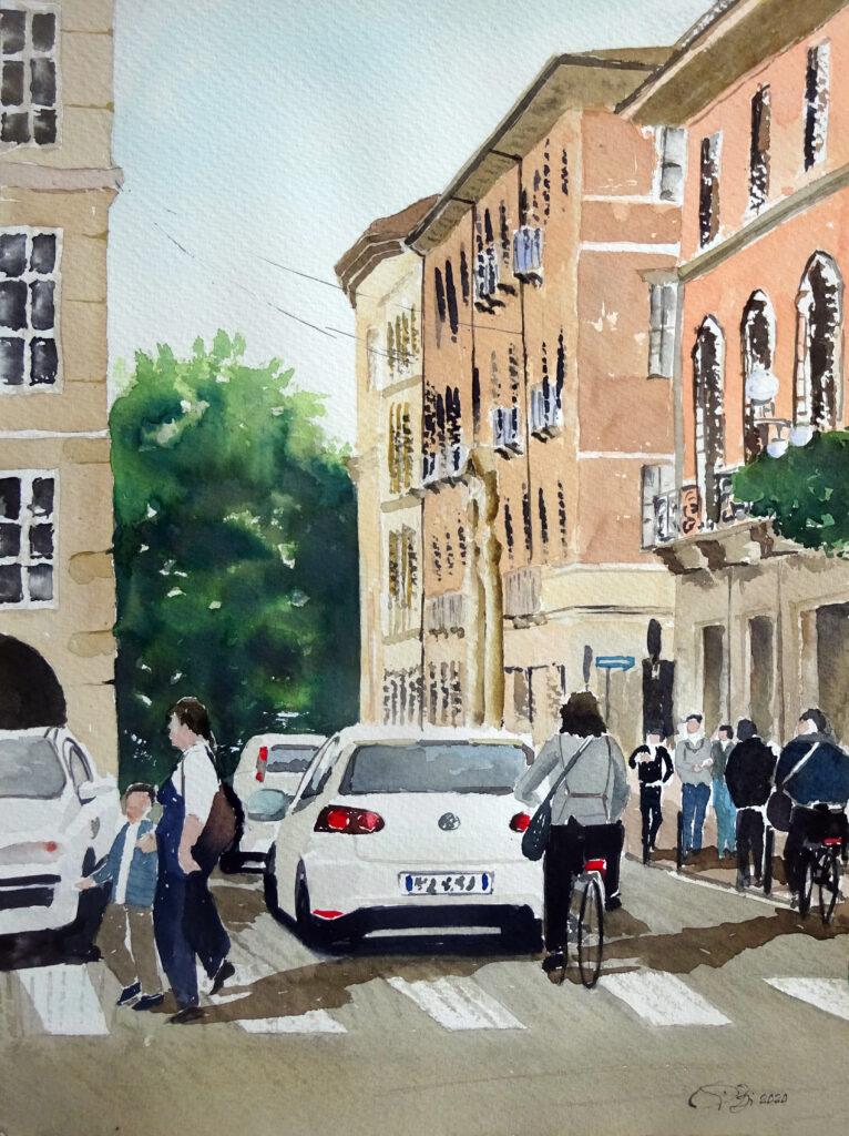 2020 - Paesaggi urbani n. 1 - 31 x 41 - Sanders 300 gr