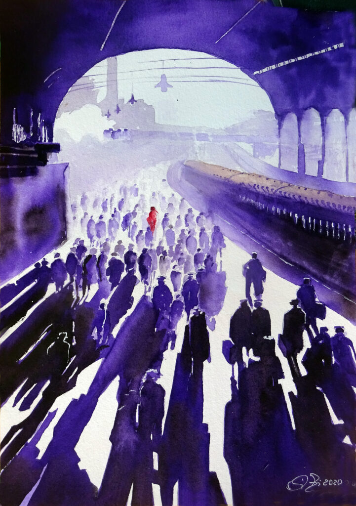 2020 - Stazione ferroviaria - 21 x 29,5 - Moulin 300 gr