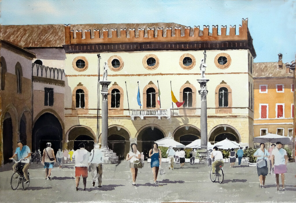 2020 - Piazza di Ravenna -- 56 x 38 - Arches 300 gr